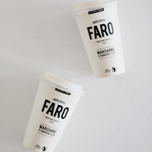Les tasses compostables des Brûleries Faro